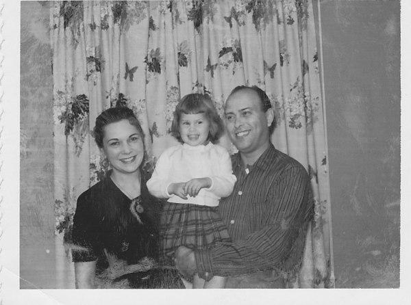 mom, dad, me 1958